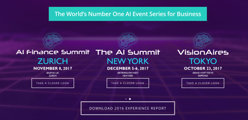 The AI Summit – GLOBAL SERIES 2017