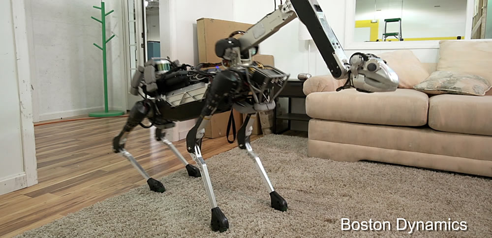 Boston Dynamicsの4足歩行ロボット「SpotMini」来日