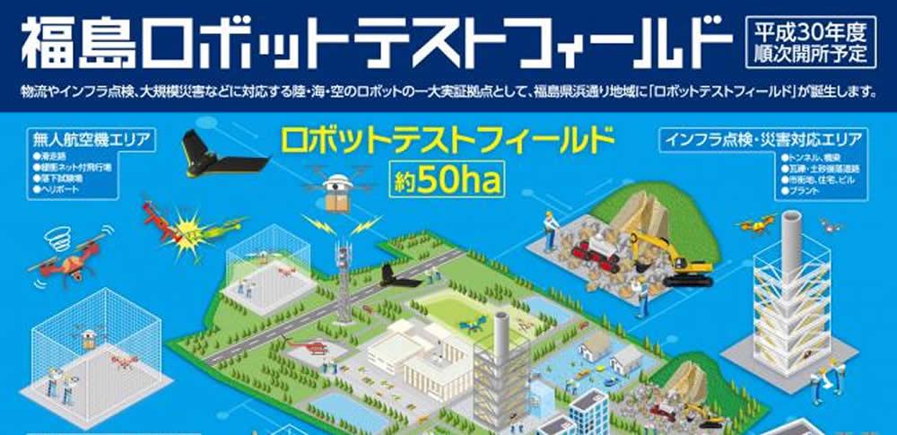 福島県、陸海空の一大実証拠点「福島ロボットテストフィールド」公開