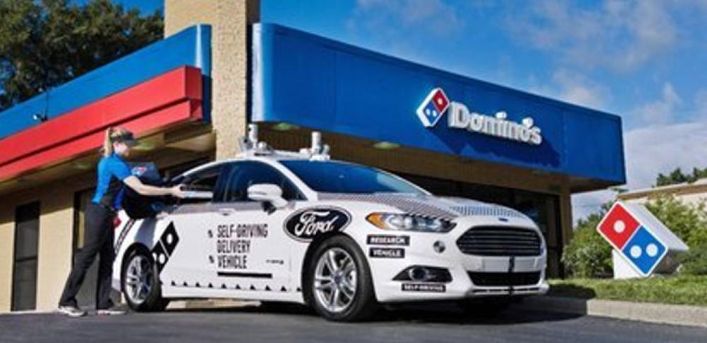 自動運転でピザ宅配!米フォードとドミノピザが実証実験
