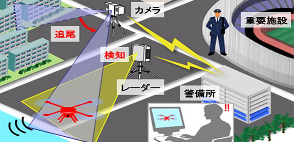 空中からレーダー警備!新型「ドローン検知システム」日立製作所が提供へ