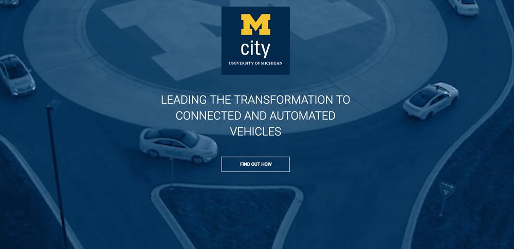 ミシガン大学が提唱する、自動運転車の架空都市「Mcity」