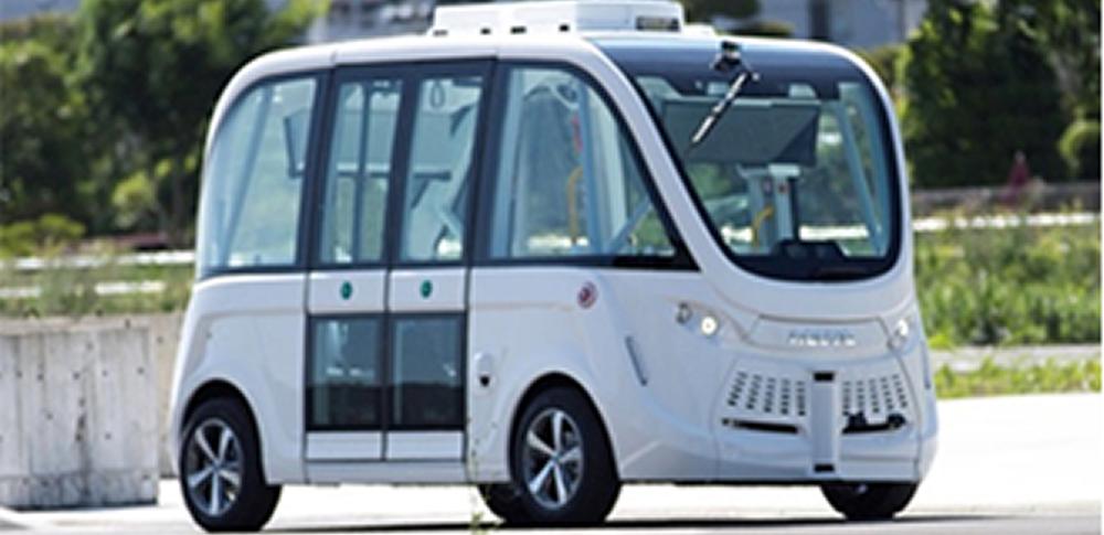 丸の内で自動運転車「ナビヤ・アルマ」の走行テストを実施‐SB&三菱地所