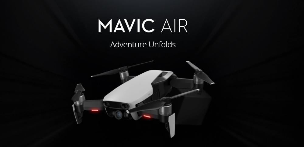 DJI社注目の新型ドローン「MAVIC_AIR」が登場!