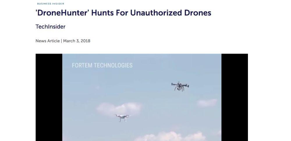 空の安全を守るドローン「DroneHunter(ドローンハンター)」開発