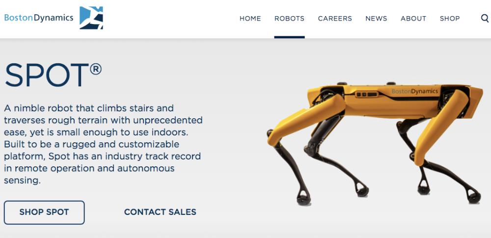 4足歩行の産業用ロボット「SPOT」販売へ│ボストンダイナミクス