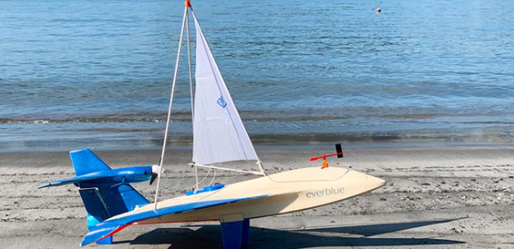 空飛ぶヨット型ドローンの実証テストに成功|エバーブルーテクノロジーズ